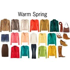 Warm Spring Colors by katestevens on Polyvore #coloranalysis