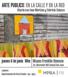 """""""Arte Público: En la Calle y en la Red"""" este jueves 6 de junio a las 18hs."""