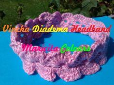 Crochet Häkeln Vincha - Diadema - Headband  por Maricita Colours en Youtube!