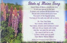 Maine state song maine state song