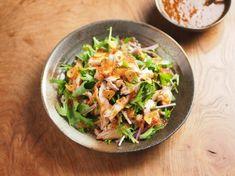 水菜とチキンステーキのサラダ10
