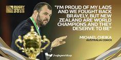 Michael Cheika. #RWCFinal #StrongerAsOne #Wallabies