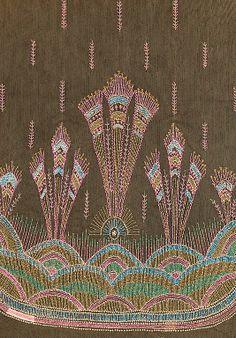 Textile panel  Textile attributed Sarah Lipska  (Polish, 1882–1973), Silk, 1920-29