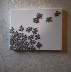 Créer un tableau avec un vieux puzzle - Meubles et objets - Pure Sweet Home