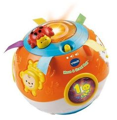 awesome VTech Move and Crawl Baby Ball Orange Developmental Toy from 6 month - 3 Year - For Sale