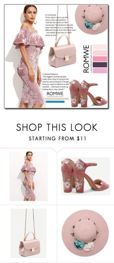 """Romwe Rose ! II"" by emapolyvore ❤ liked on Polyvore featuring dress, sandals and romwe"