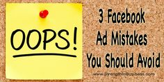 3 Facebook Ad Mistakes You Should Avoid http://www.strengthinbusiness.com/facebook-ad-mistakes-you-should-avoid/  #FacebookMarketing #FacebookAds