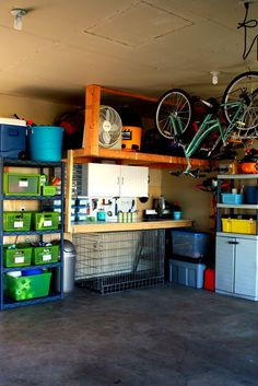 IHeart Organizing: May Featured Space: Outdoors - Garage Before & Afters! (could work for storage shed too since we don't have a garage)