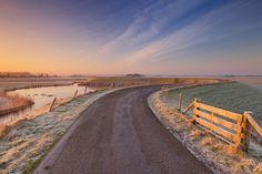 Omringdijk (circular dike), near Burgerwiel and Schagen, West Friesland, North Holland (NL) Holland, North Sea, The Province, 12th Century, Long Distance, Denmark, Belgium, Trail, Stage
