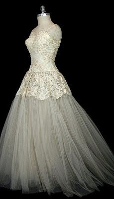 Christian Dior ~ Wedding Gown 1955