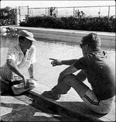 John F. Kennedy and Frank Sinatra.before he realized the rat bastard lied to him.....but after he took franks money for his campaign