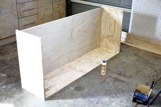 How to Build a DIY Wall Mounted Garage Cabinets - TheDIYPlan Diy Garage Storage Cabinets, Diy Cabinets, Kitchen Cabinets, Lumber Sizes, Closet Organizer With Drawers, Garage Workshop Organization, Small Hinges, Build A Wall, Wood Screws