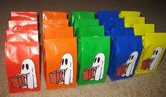 Halloween - Ghost treat bags