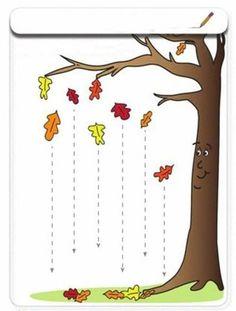 Lines Fall Preschool Fine Motor Skills Worksheets: Tracing LinesFall Preschool Fine Motor Skills Worksheets: Tracing Lines Autumn Activities For Kids, Fall Preschool, Kids Learning Activities, Preschool Writing, Line Tracing Worksheets, Tracing Lines, Kindergarten Art, Kindergarten Worksheets, Community Helpers Worksheets