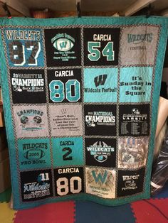 Tshirt Quilt Custom Made  Memory Quilt Made by DallasHouseQuilts