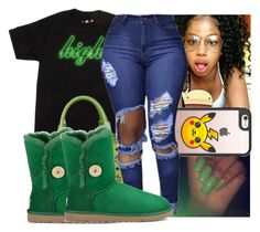 """"""""""" by kodakdej ❤ liked on Polyvore featuring MCM, Casetify and UGG"""