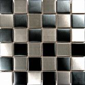 """Found it at Wayfair - 2"""" x 2"""" Metal Mosaic in Black and Silver"""
