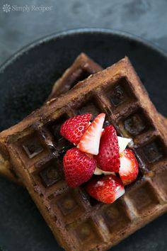 Naturally gluten-free Buckwheat Waffles! Crispy on the outside, fluffy on the inside. #glutenfree On SimplyRecipes.com