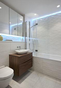 Revestimento em relevo também no banheiro! #exporevestir …