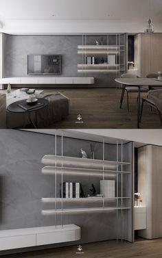 | 1000 Living Room Colors, Living Room Modern, Home Living Room, Living Room Designs, Tv Shelf Design, Tv Wall Design, House Design, Apartment Interior, Living Room Interior