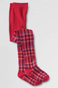 Girls' Pattern Tights from Lands' End