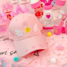 8f864a3c6d19a Cap - PINK CAP EMBROIDERY WING SWEET HARAJUKU Embroidered Baseball Caps,  Peaked Cap, Visors