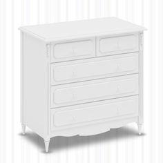 Cômoda Lis Branco Fosco com 5 gavetas #comodas #moveisdebebe #enxovaldebebe