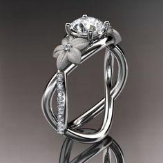 platinum diamond leaf and vine wedding ring,engagement ring ADLR90