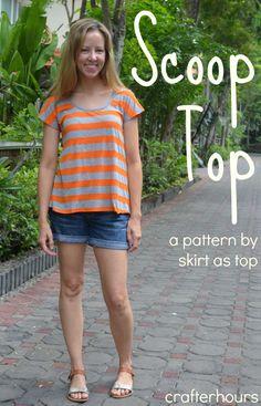 cute stripey scoop top Sewing Tutorial // crafterhours. from http://skirtastop.com/2013/05/02/grape-scoop-top/
