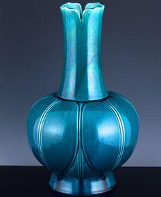 SUPERB 18THC CHINESE TURQUOISE GLAZE LOTUS VASE KANGXI QIANLONG PERIOD VERMEER Lotus, Turquoise, Chinese, Ceramics, Antiques, Vases, Period, Home Decor, Ceramica