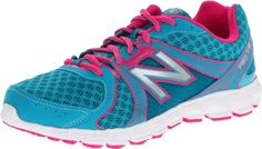 Balance KJ750 Y Running Shoe (Little Kid/Big Kid),Blue/Pink