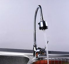 e_pak Kitchen Sink Torneira Cozinha Hot And Cold Mixer All Around Rotate Swivel 2-Function Water Outlet Tap Faucet KF93