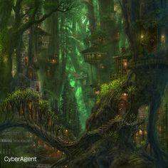 Artist Spotlight: Ucchiey Fantasy art landscapes Fantasy landscape Fantasy artwork