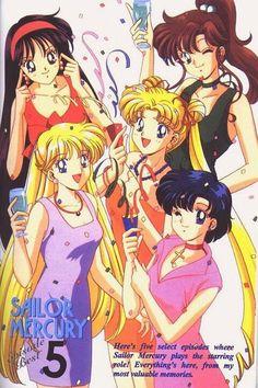 Usagi, Minako, Ami, Rei and Makoto (Sailor Moon)