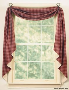 Shop Curtains by Style > Country > Sturbridge Fishtail Swag, country, country style All Curtains;Shop Curtains by Style;Country, All Curtains;Fabric Curtains Park Designs - Artifacteria - Decorating With Lace Outlet