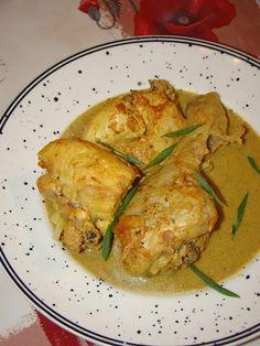 Cristina's world: Curry de pui cu lapte si ceapa verde