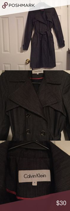 Calvin Klein Double Breasted Trench Coat Extremely Nice Calvin Klein Trench Coat!!  Gently Used!! Calvin Klein Jackets & Coats Trench Coats