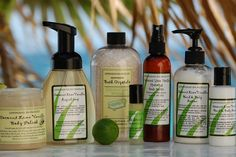 Lemongrass Spa Products... love their foot scrubs/soaks and their body polish... and well, everything I've tried!