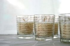 Shabby Chic Mini Votive Candle  3 French by inspirationsbyfaith, $9.00
