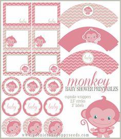 Mini Kit para Baby Shower de Monita, para Imprimir Gratis.