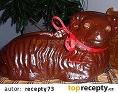 Beránek z majonézy - vláčný recept - TopRecepty.cz Easter Lamb, Caramel Apples, Pudding, Christmas Ornaments, Holiday Decor, Food, Custard Pudding, Puddings, Meals