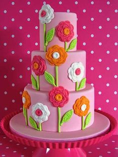 Cake Wrecks - Home - Sunday Sweets Gets Crafty:  crocheted flowers!