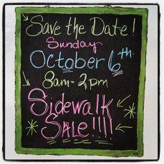 Sidewalk Sale at Sparrow's Nest on Sunday, October 6th!  16942 Gothard Street Huntington Beach, CA 92647
