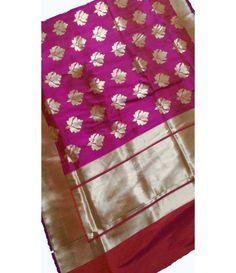 Pink Banarasi Handloom Katan Silk Saree
