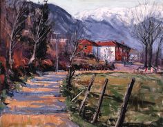 Albanian Path painting by Jeremy Winborg