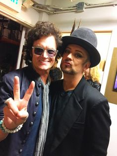 With my mate Boy George at the Greek Theatre, Hollywood. Soul Singin' & Killin' it...