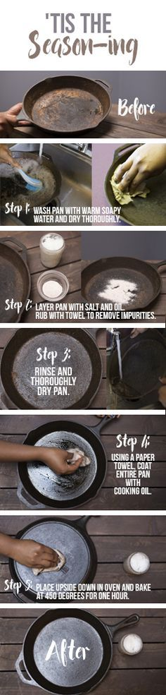 How to make your cast iron skillet nonstick! Seasoning Guide!