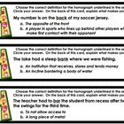 This is a set of 27 homograph task cards!    24 cards contain a homograph used in a sentence. Students must then choose the correct definition of t...