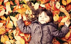 Autumn leaves and beautiful children photography wallpaper wallpapers