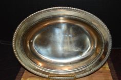 "Vintage A Ray E. Dodge Product SilverPlated Serving Dish 11 1/2""x8 3/4"" #DodgeLA"
